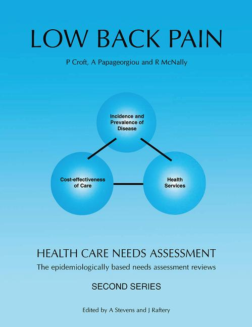 Health Care Needs Assessment The Epidemiologically Based Needs Assessment Reviews book cover