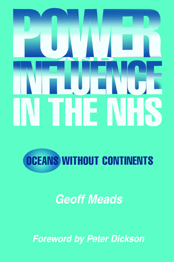 Power and Influence in the NHS Oceans Without Continents book cover