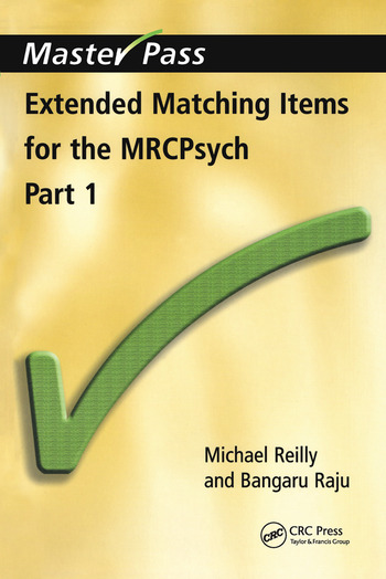 Extended Matching Items for the MRCPsych Part 1 book cover
