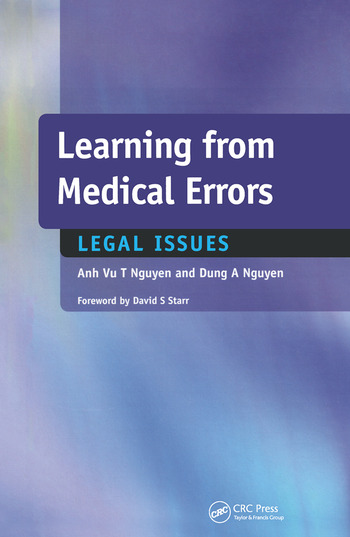 Learning from Medical Errors Legal Issues book cover
