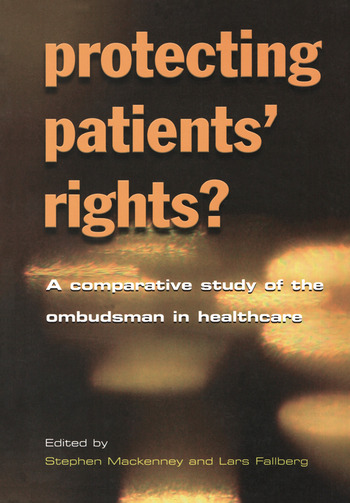 Protecting Patients' Rights A Comparative Study of the Ombudsman in Healthcare book cover