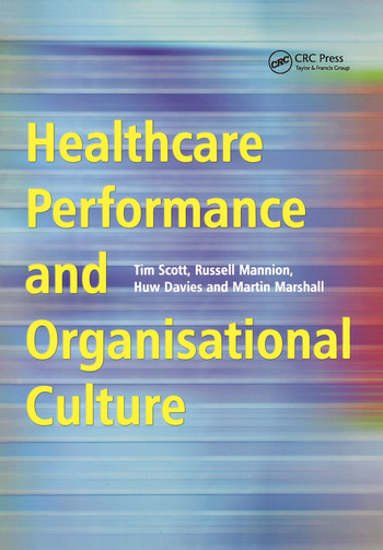 Healthcare Performance and Organisational Culture book cover