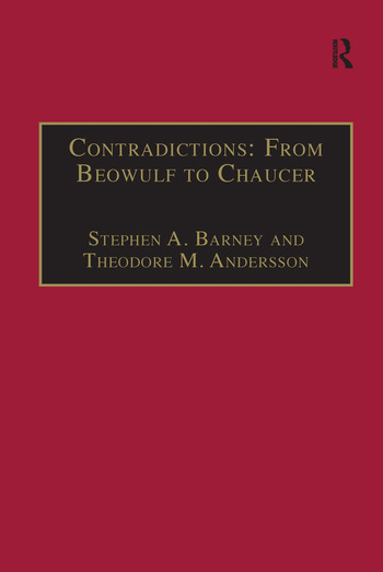Contradictions: From Beowulf to Chaucer Selected Studies of Larry Benson book cover