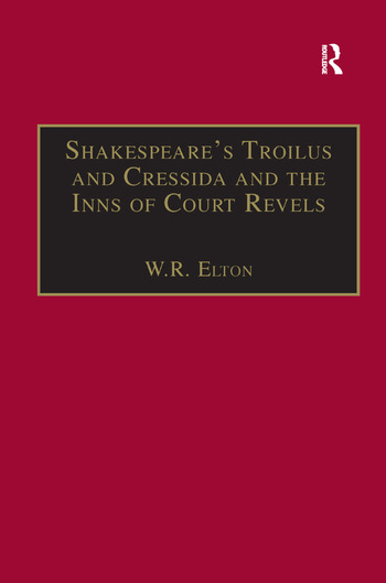 Shakespeare's Troilus and Cressida and the Inns of Court Revels book cover