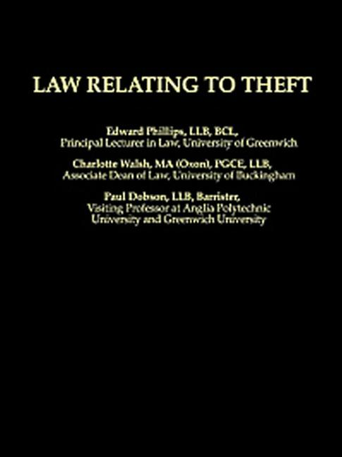 Law Relating To Theft book cover