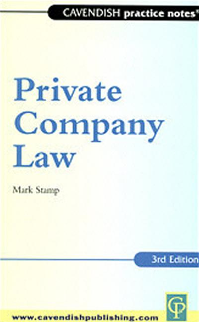 Practice Notes on Private Company Law book cover