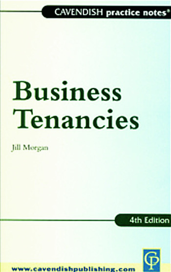 Practice Notes on Business Tenancies book cover