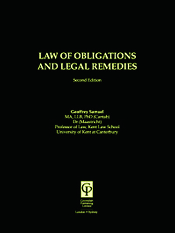 Law of Obligations & Legal Remedies book cover