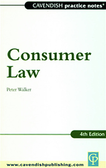Practice Notes on Consumer Law book cover