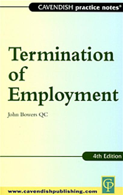 Practice Notes on Termination of Employment Law book cover
