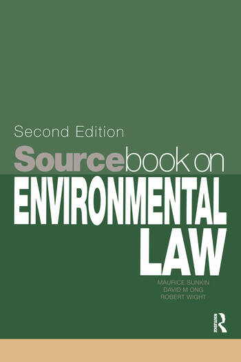 Sourcebook on Environmental Law book cover