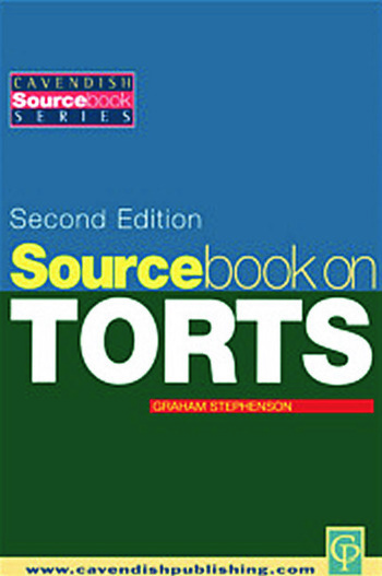 Sourcebook on Tort Law 2/e book cover
