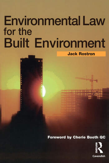 Environmental Law for The Built Environment book cover