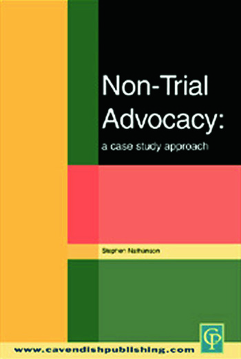 Non-Trial Advocacy book cover