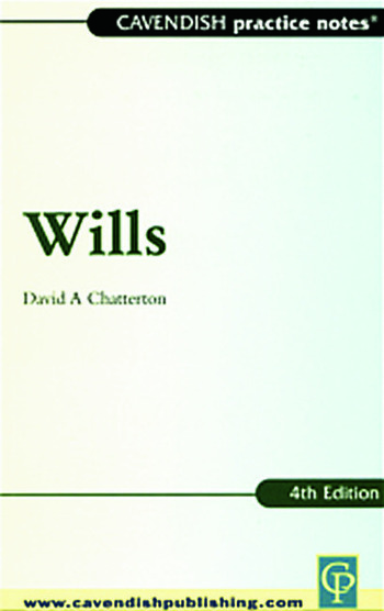Practice Notes on Wills book cover