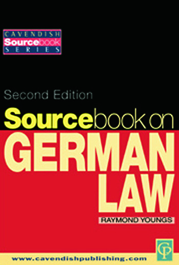 Sourcebook on German Law book cover