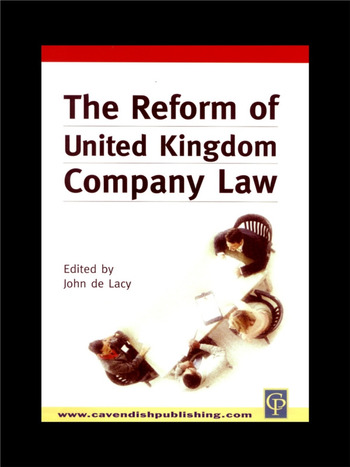 Reform of UK Company Law book cover