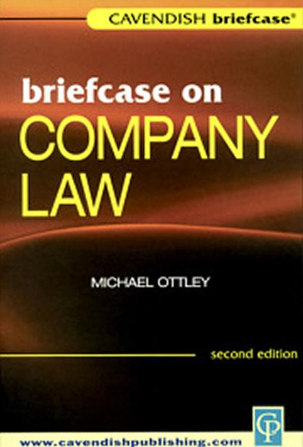 Briefcase on Company Law book cover