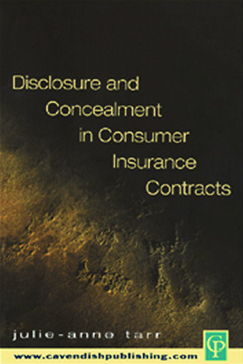 Disclosure and Concealment in Consumer Insurance Contracts book cover