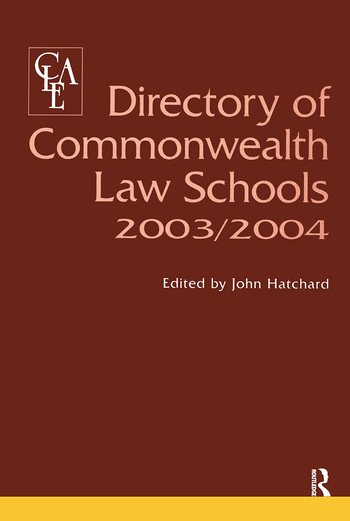 Directory of Commonwealth Law Schools 2003-2004 book cover