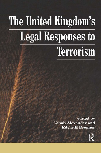 UK's Legal Responses to Terrorism book cover