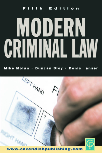 Modern Criminal Law Fifth Edition book cover