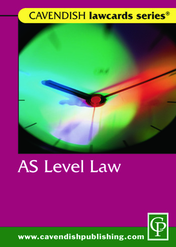 Cavendish: AS Level Lawcard book cover
