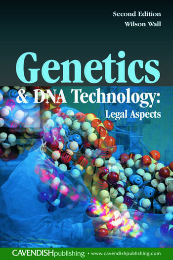 Genetics and DNA Technology: Legal Aspects book cover