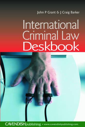 International Criminal Law Deskbook book cover