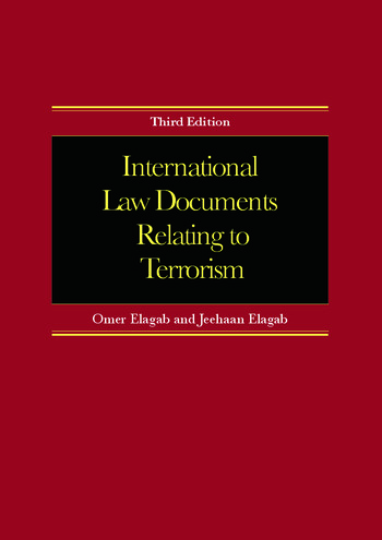 International Law Documents Relating To Terrorism book cover