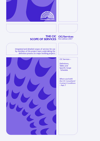 The CIC Scope of Services Handbook book cover