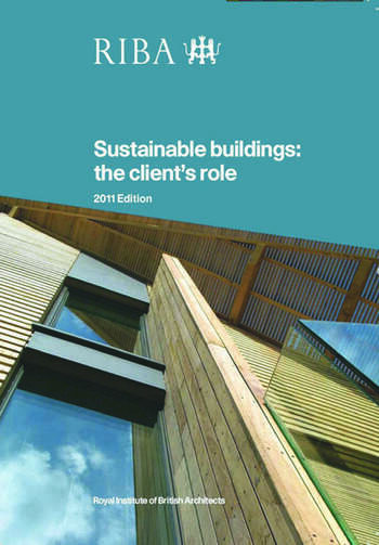 Sustainable Buildings The Client's Role book cover