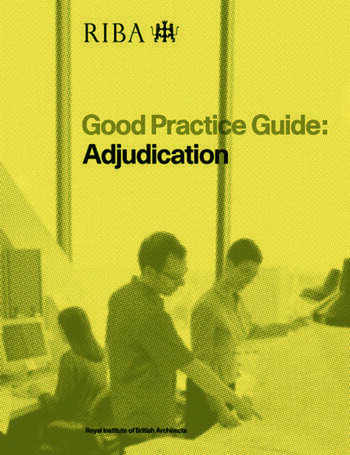Good Practice Guide: Adjudication book cover