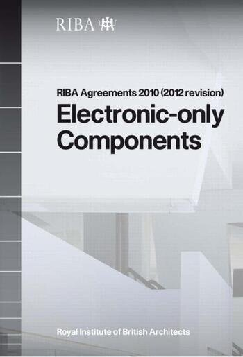 RIBA Agreements 2010 (2012 revision) Electronic Only Components - Printed Copy book cover