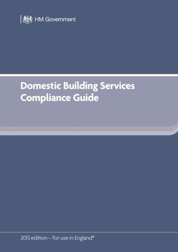 Domestic Building Services Compliance Guide (for Part L 2013 edition) book cover