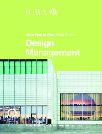 Design Management RIBA Plan of Work 2013 Guide book cover