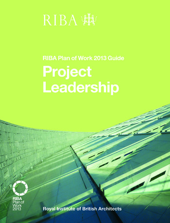 Project Leadership RIBA Plan of Work 2013 Guide book cover