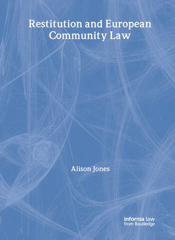 Restitution and European Community Law book cover