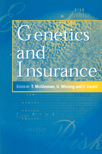 Genetics and Insurance book cover