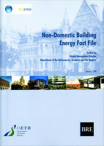 Non-Domestic Building Energy Fact File (BR 339) book cover