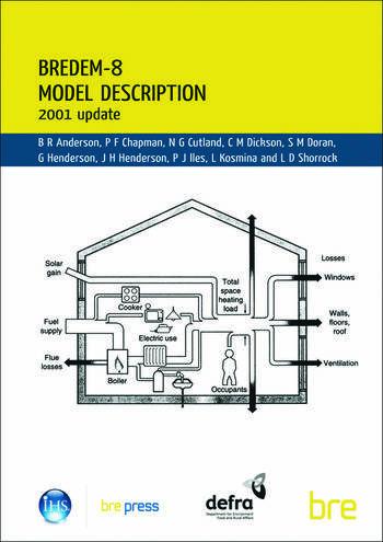 BREDEM-8 Model Description 2001 Update (BR 439) book cover