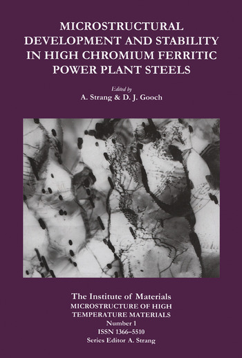 Microstructural Development and Stability in High Chromium Ferritic Power Plant Steels book cover