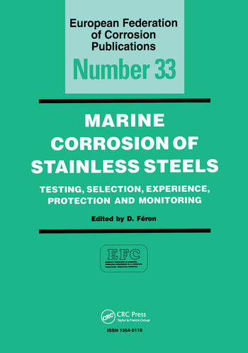 Marine Corrosion of Stainless Steels, EFC 33 book cover