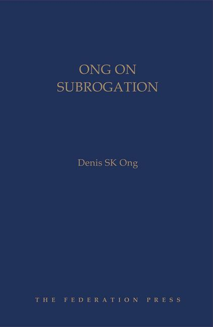 Ong on Subrogation book cover