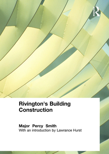 Rivington's Building Construction book cover