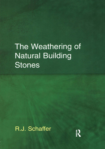 The Weathering of Natural Building Stones book cover