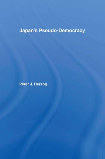 Japan's Pseudo-Democracy book cover