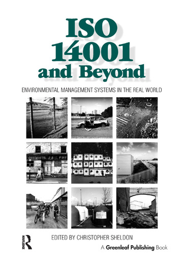 ISO 14001 and Beyond Environmental Management Systems in the Real World book cover