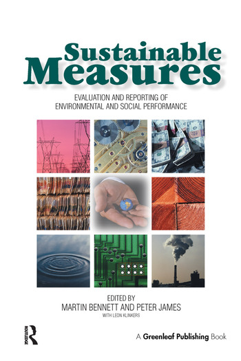 Sustainable Measures Evaluation and Reporting of Environmental and Social Performance book cover