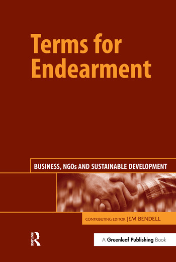 Terms for Endearment Business, NGOs and Sustainable Development book cover